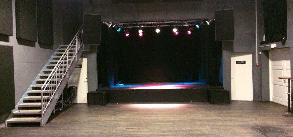 Billede af Scene 7 salen før arrangement.