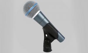 Klassisk sang mikrofon. Shure Beta 58 er industristandarten inden for vokal mikrofoner.